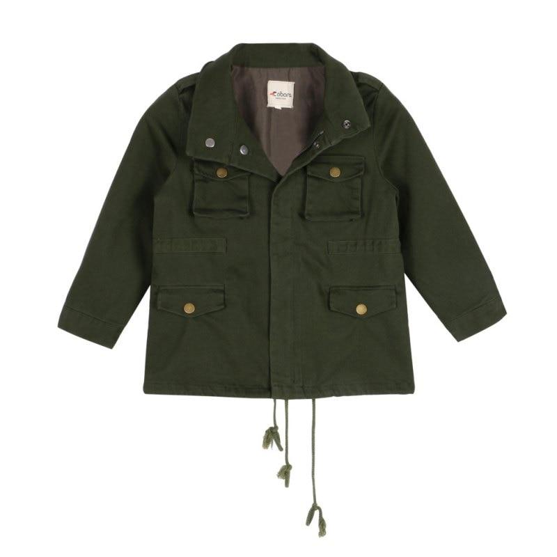 Baby Kid Boy Girl Military Army Coat Zipper Jacket Outwear Tops Outerwear