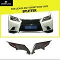 Car-Styling Carbon Fiber Front Bumper Splitter Kits Lip fit for Lexus GS F Sport 2012-2015