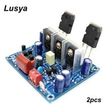 2 pçs de alta fidelidade mx50 se 2.0 duplo canal 100 w + 100 amplificador potência estéreo kit diy e placa terminada