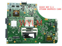 Free Shipping Original K53S X53S A53S K53SV REV 2 4 Laptop Motherboard MAIN BOARD GT540M N12P