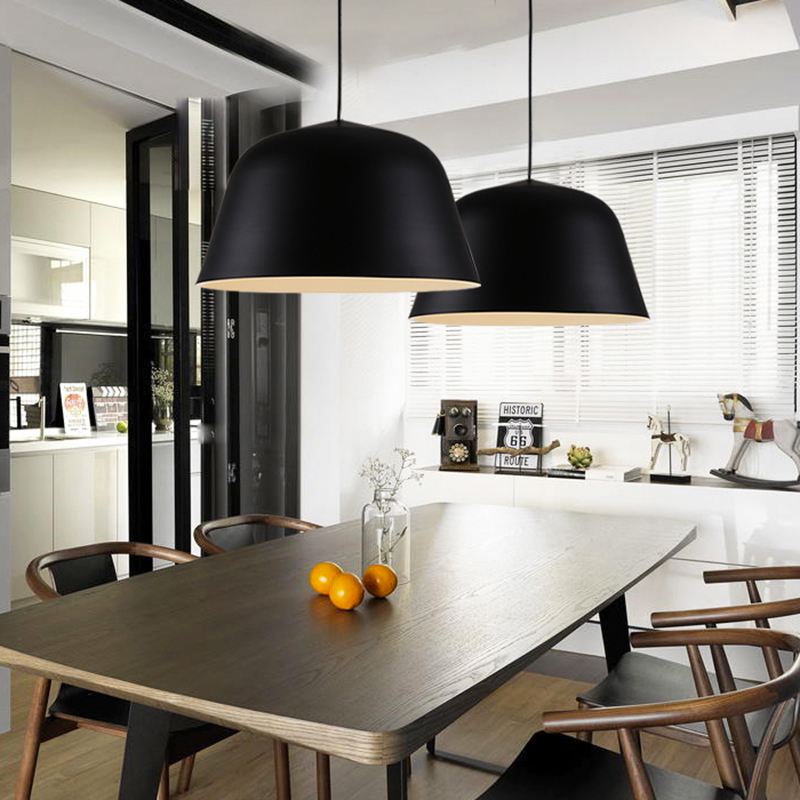 Nordic contracted fashion droplight, optical design E27 aluminum ...