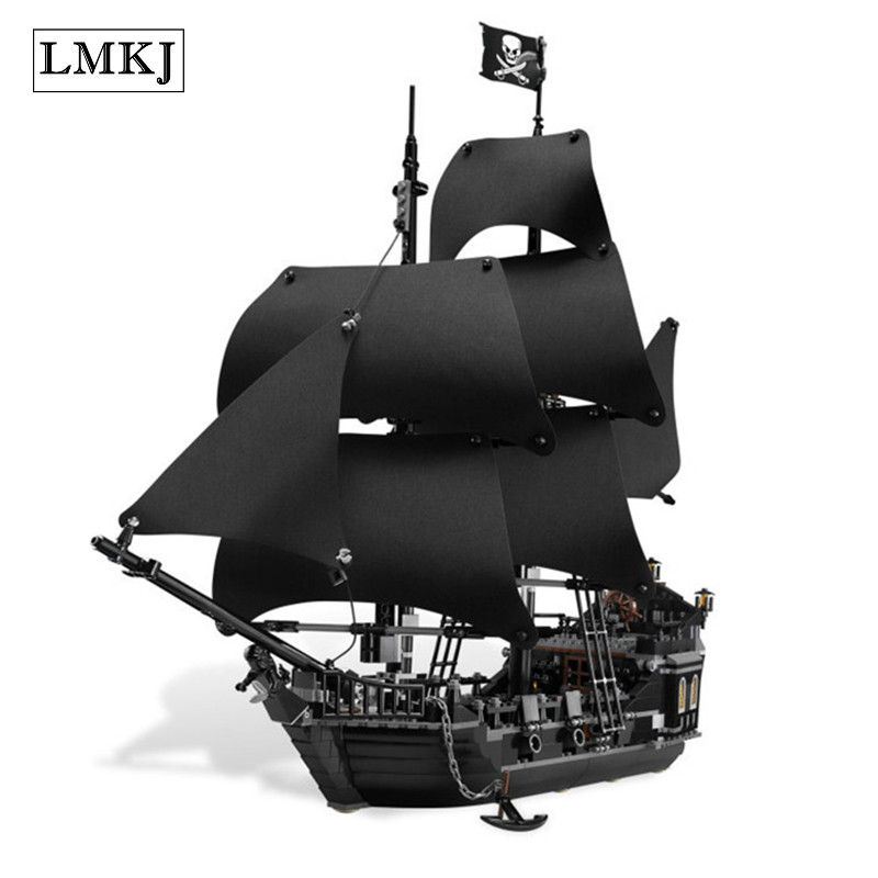 Lepin Diy Creative Movie The Black Pearl Caribbean Ship Building Blocks Bricks Toy Compatible with Legoingly 4184 for Children