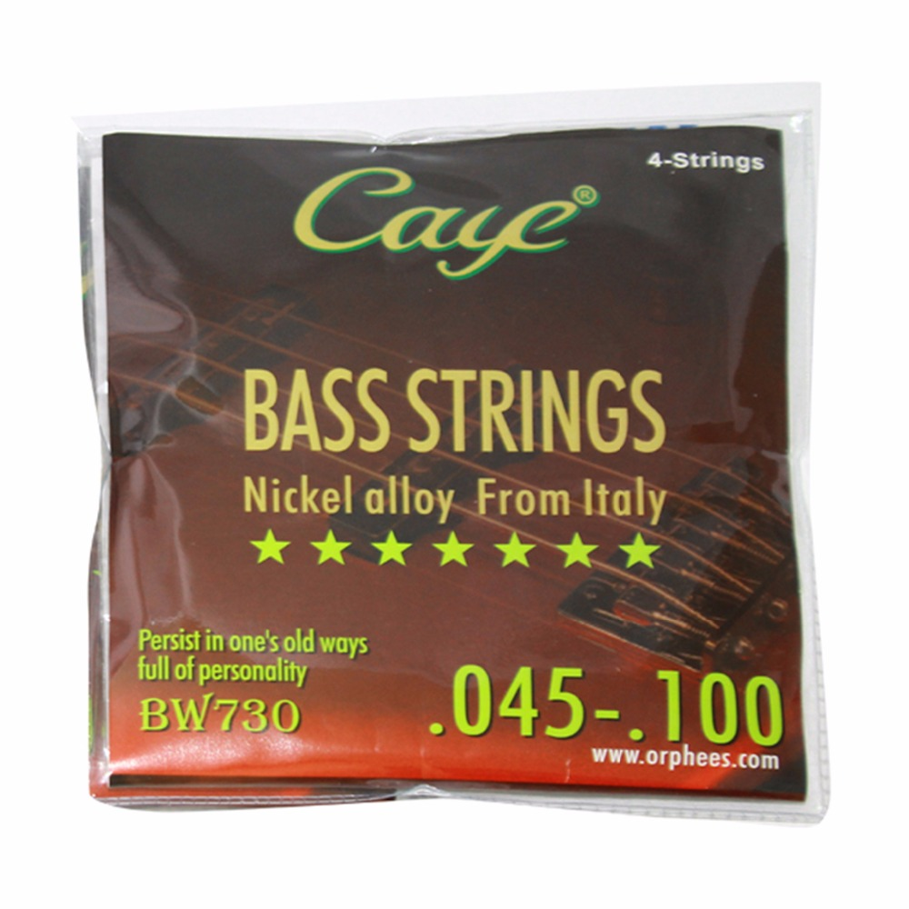 045/100 inch 4 string Bass Strings nickel alloy Caye BW730 320300 045 umbra