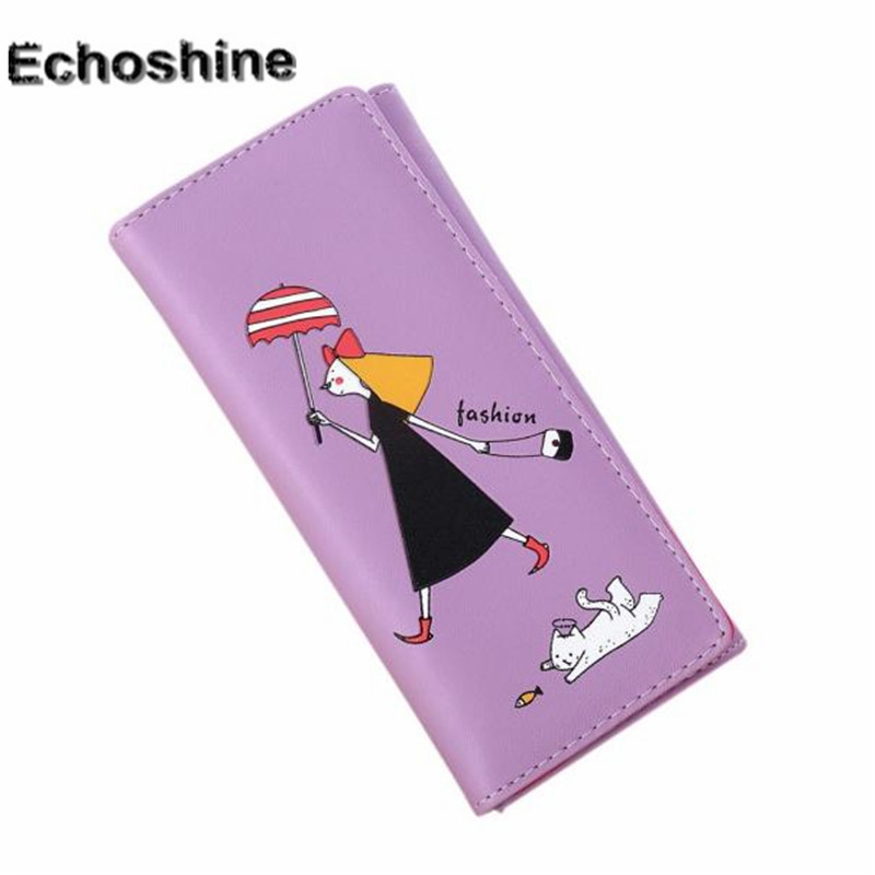 2016 hot sale popular Women Girl Pattern Coin Purse Long Wallet Card Holders Handbag coin purse gift wholesale A2000 2017 wholeworld market fashion clutch handbag wallet women cat pattern coin purse short wallet card holders handbag a 4