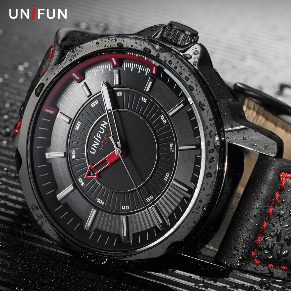 UNIFUN New Luxury Brand Fashion Casual Sport Man Business Male Relogio Masculino Army Military Waterproof Quartz Watches for Men weide popular brand new fashion digital led watch men waterproof sport watches man white dial stainless steel relogio masculino