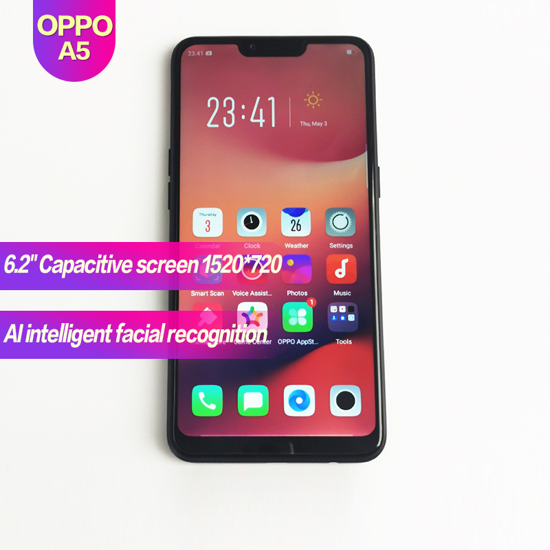 "OPPO A5 Original Android Smart Phone 6.2"" Full Screen Global Rom 4230mAh 1520x720 Face recognition 1080P 13MP+2MP"