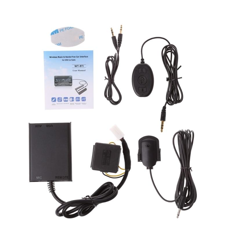 Kits Bluetooth mains libres Auto Interface adaptateur AUX stéréo pour Honda Civic Accord Kit voiture Bluetooth style voiture