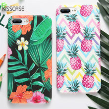 KISSCASE Patterned Case For iPhone 6 6S 7 8 Plus Cute Pineapple Cactus Hard PC Phone Cases For iPhone X 5 5S Cover Accessories(China)