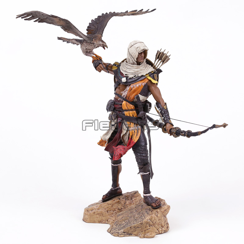 Assassin's Creed Origins Bayek Protector of Egypt PVC Figure Collectible Model Toy 31cm assassin s creed origins action figure bayek aya pvc 230mm anime assassin s creed origins figurine model toys