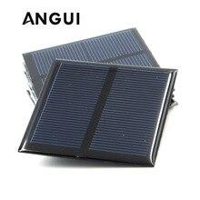 100mA 120mA 150mA 250mA 300mA 350mA 435mA 500mA panneau solaire 1V 1.5V 2V Mini batterie solaire chargeur de téléphone Portable Portable