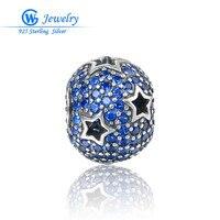 Trendy Star Charm Diy Hollow Zirconia Cubica 925 Silver Charms Fit European Brand Bracelets Gw Fashion Jewelry X406H10
