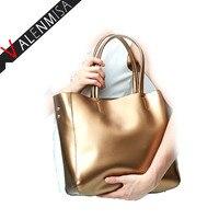 Famous Brand Women Real Genuine Leather Tote Shopping Bag Designer Handbags Large Shoulder Bags Vintage Bag