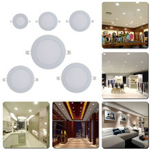 Ultra Thin anti-fog Ceiling LED Lamp 3w 4w 6w 9w 12w 15w Recessed Grid Slim Downlight Round panel light(China)