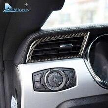 Velocità In Fibra di Carbonio presa di CORRENTE per Auto Ford Mustang-Styling Condizionatore D' Aria in Uscita porta AC 2015 2016 2017 Auto accessori