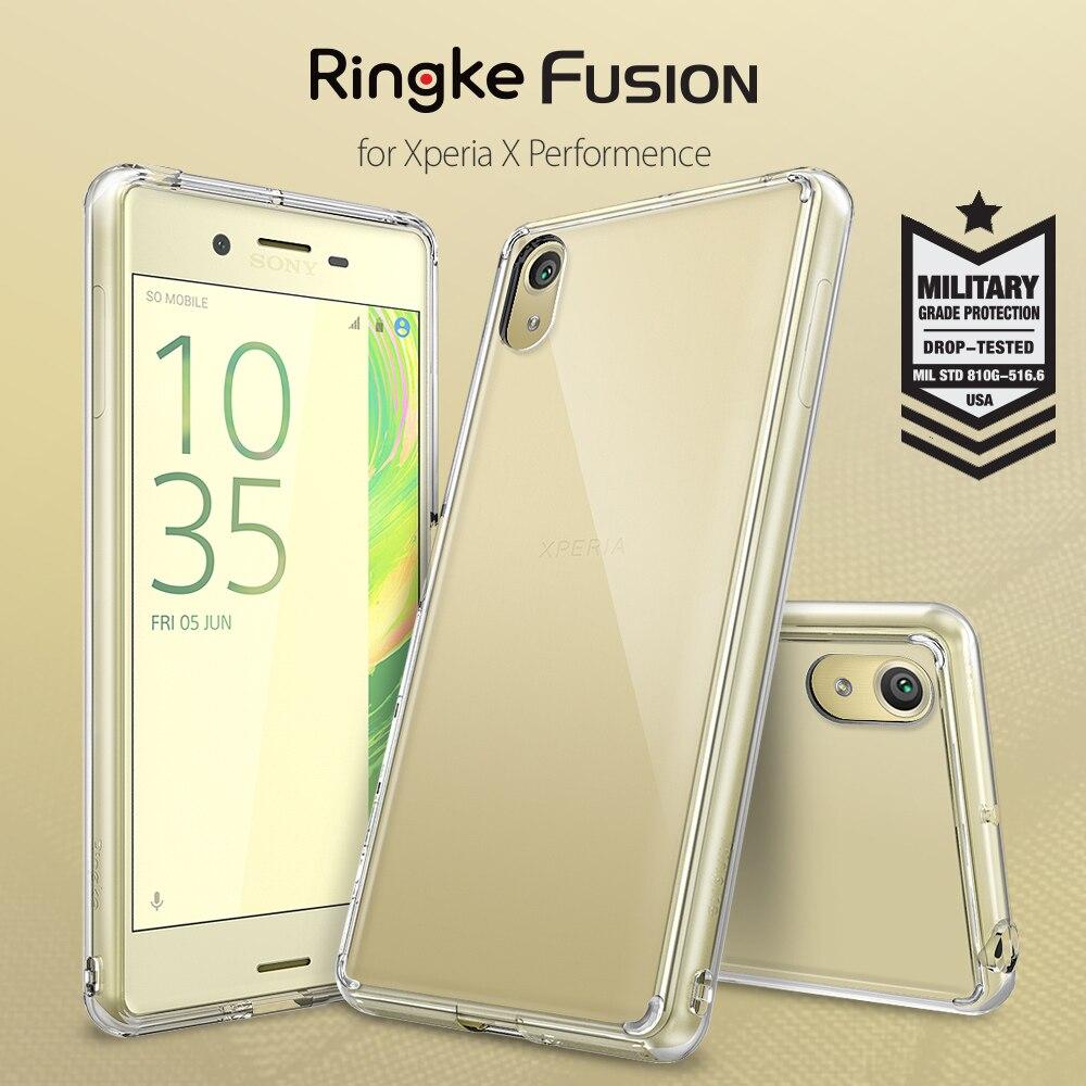 Цена за 100% Orignal Ringke Fusion Чехол для Xperia X Производительность/Xperia XP-Прозрачный PC Задняя Панель Крышки Для Sony Xperia X производительность