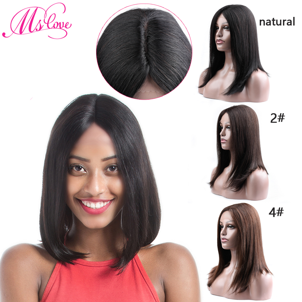 Short Human Hair Wigs Brazilian Wig Kim K Straight 6X1 T Part Lace Front Wigs For