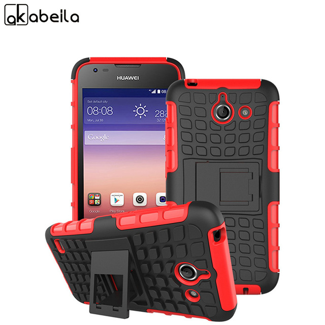 AKABEILA Cell Phone Cases For Huawei Ascend Y550 Housing Cover Rubber Armor  Hybrid Defender Tyre Shield Case For Huawei Y550-in Fitted Cases from