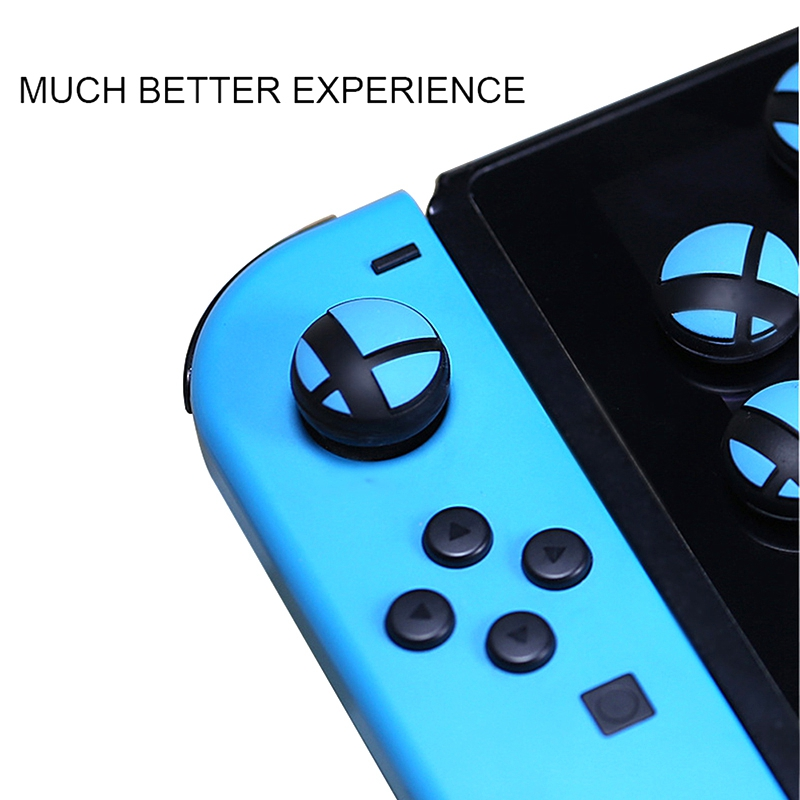 4Pcs Anti Skid Analog Thumb Stick Grips For Nintendo Switch Ns Game Console Silicone Protection Joystick Cap Thumbstick Cover