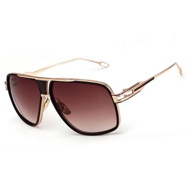 Retro Vintage Óculos De Sol Dos Homens Grife de Metal óculos de Sol Mulheres Oculos De Sol óculos De Sol Grande Quadro Óculos Quadrados
