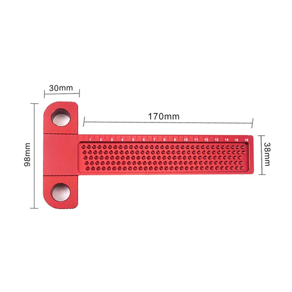 carpenter tools T Type Square Ruler Woodworking Aluminum Alloy Scriber Measuring Carpentry Marking Tool Gauge Gauging