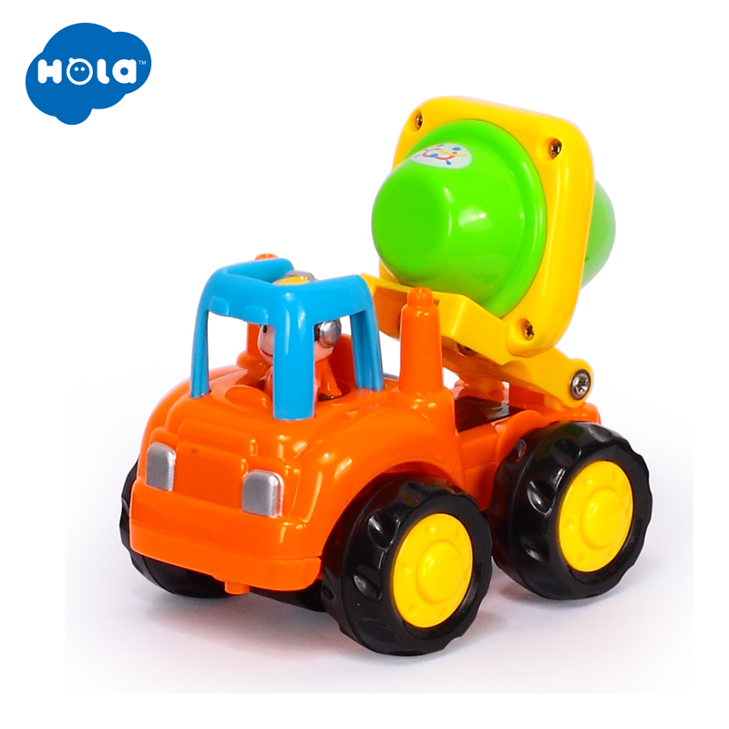 6PC Lot HUILE TOYS 326CD Wholesale Toy Push Go Friction Powered Car Toys Mixer Truck and Dumper for Children Boy 1 3 year old in Diecasts Toy Vehicles from Toys Hobbies