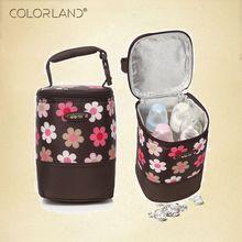 COLORLAND Fashion Baby Handbag Bottle Bag Thermo Bottles Mummy Handbag Baby Bag Insulation Bags Breast Milk