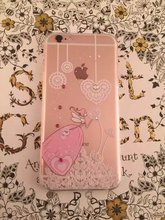Flexible Girl Painted Rhinestone TPU Case For Iphone6 6s 6plus Slim Crystal Back Protect Skin Phone