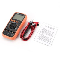 9807A+ Digital Multimeter 19999 Counts True RMS AC/DC Volt Amp Ohm Capacitance Frequency Diode hFE Continuity Tester