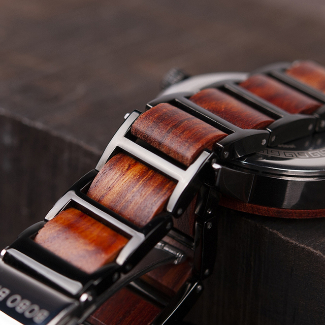 Bobo pássaro amantes de madeira relógios definir marca superior luxo à moda relógio masculino grandes presentes relogio masculino 2