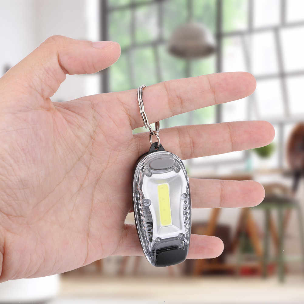 Mini Keychain Flashlight COB LED 3 Mode Worklight Torch for Gift Camping Party