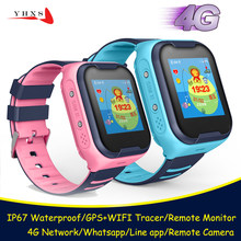 IP67 Waterproof Smart 4G Remote Camera GPS WI-FI Kids Children Students Wristwatch SOS Video Call Monitor Tracker Location Watch(China)