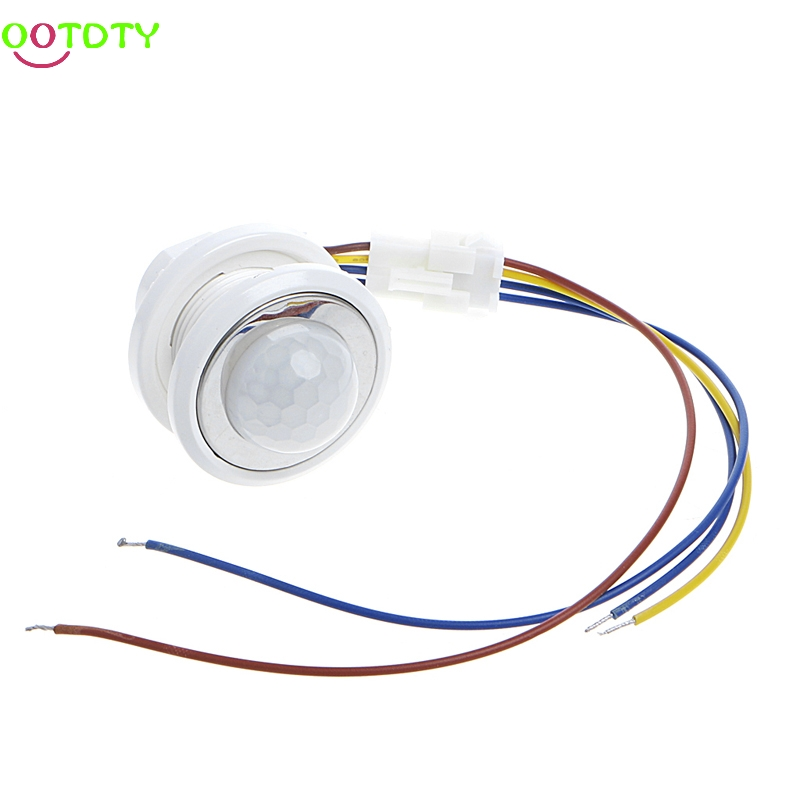 40mm LED PIR Detector Infrared Motion Sensor Switch with Time Delay Adjustable  828 Promotion 10pcs ac100 240v body pir infrared ray motion sensor switch time delay adjustable mode detector switch for panel ceiling lamp