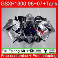 Обтекатели для SUZUKI Hayabusa GSXR1300 96 07 синий серебристый GSXR 1300 96 97 98 99 00 01 42SH2 GSX R1300 1996 1997 1998 1999 2001