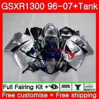 Fairings For SUZUKI Hayabusa GSXR1300 96 07 Blue Silvery GSXR 1300 96 97 98 99 00 01 42SH2 GSX R1300 1996 1997 1998 1999 2001