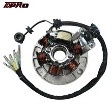 TDPRO 6 Coil Magnto Stator Motorcycle 6 Poles Coils For Lifan 140cc 150cc 160cc Engine ATV Quad Motorcross Pit Dirt Motor Bike lifan 150 racing magneto stator rotor kit 150cc motorcycle dirt pit bike pitpro