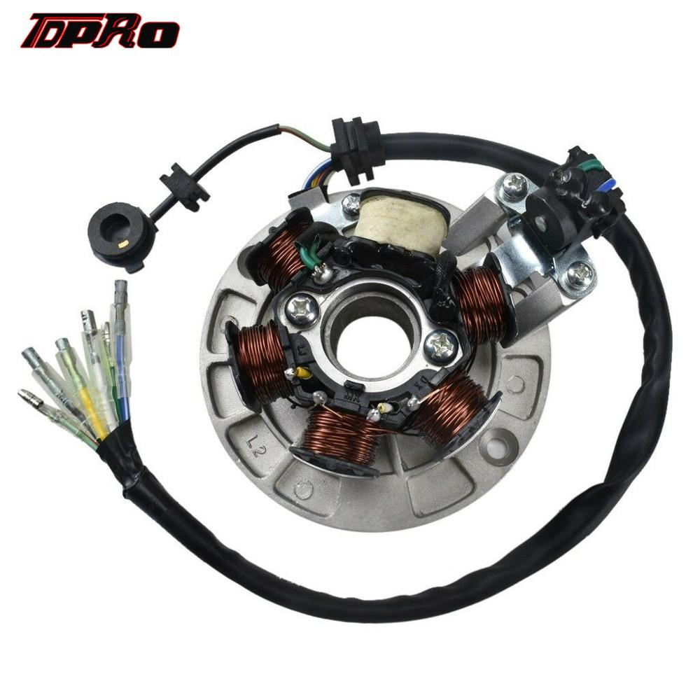 TDPRO 6 Coil Magnto Stator Motorcycle 6 Poles Coils For <font><b>Lifan</b></font> 140cc 150cc <font><b>160cc</b></font> <font><b>Engine</b></font> ATV Quad Motorcross Pit Dirt Motor Bike image