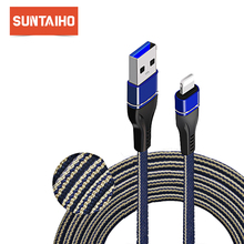 Suntaiho Micro USB Cable USB Type C Fast Charging usb c cable for iphone cable Xs max Xr 8 7 6 plus 5 s for Samsung Xiaomi mi9