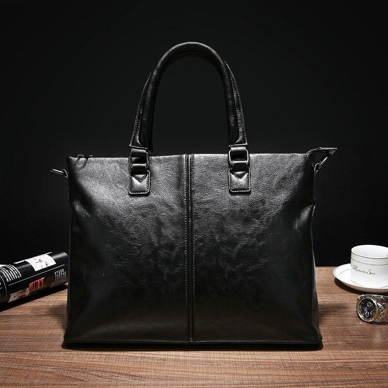 Famous Brand Men Bags Men's Business Briefcase Computer Laptop Handbag Bag Leather Messenger Bags Shoulder Bag Man