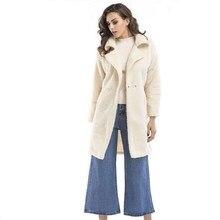 28c7f226e5e Зимнее пальто Для женщин теплая хлопковая стеганая Шерстяное Пальто Длинные  Для женщин кашемировое пальто в европейском