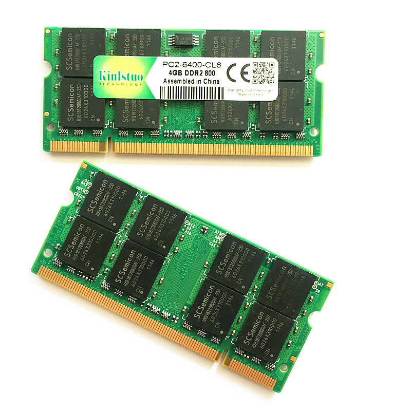 Kinlstuo memory ram <font><b>ddr2</b></font> <font><b>4gb</b></font> 800Mhz pc2-6400 <font><b>ddr2</b></font> rams <font><b>4gb</b></font> <font><b>667</b></font> pc2-5300 <font><b>sodimm</b></font> notebook <font><b>4gb</b></font> <font><b>ddr2</b></font> memory compatible with 2gb image