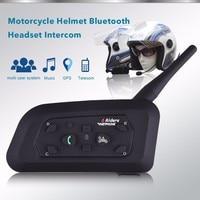 2018 2PCS V6 Pro Intercom US Motorcycle Helmet Bluetooth Headset Waterproof 1200M BT Interphone For 6