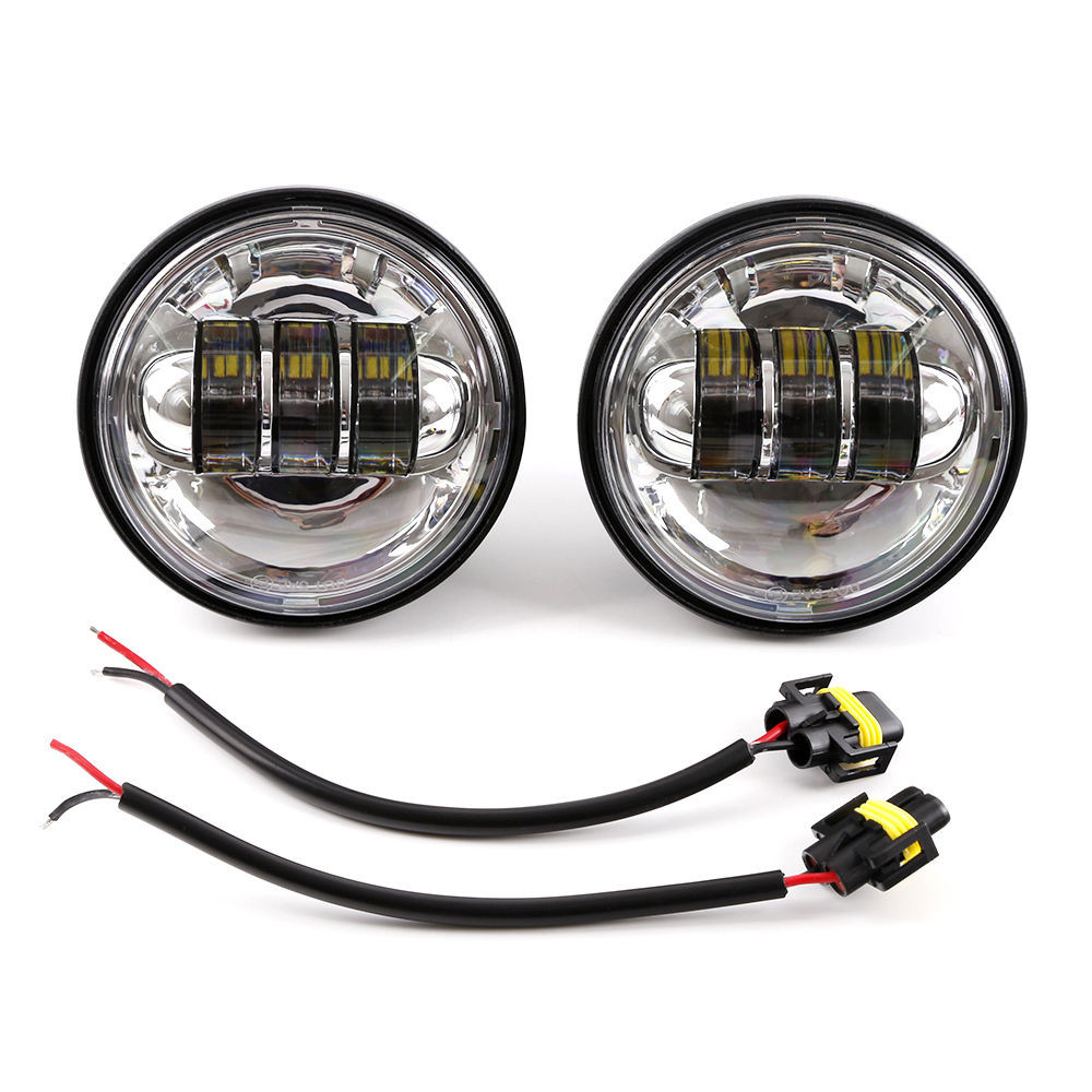 1x 7 75W Phillips Round LED Headlight + 4.5 Passing Lights For Harley Davidson (3)