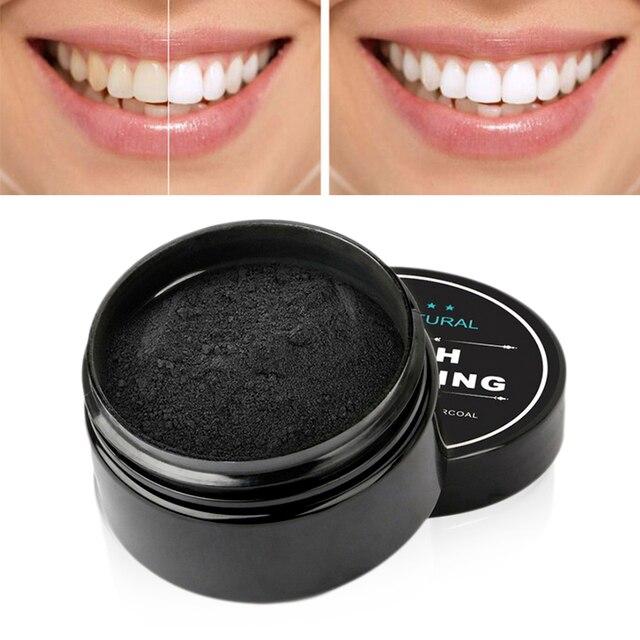 Y & W & F carbón activado dientes blanqueamiento polvo orgánico carbón activado bambú dientes naturales blanqueamiento sonrisa perfecta TSLM1