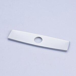 Image 3 - Quyanre níquel escovado preto cromo frete grátis 10 Polegada buraco placa de cobertura torneira da cozinha acessórios