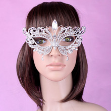 1 Peice 2016 Halloween Woman Girl Artificial Diamond Butterfly Mask European Style High Quality Elegant For Costume Party