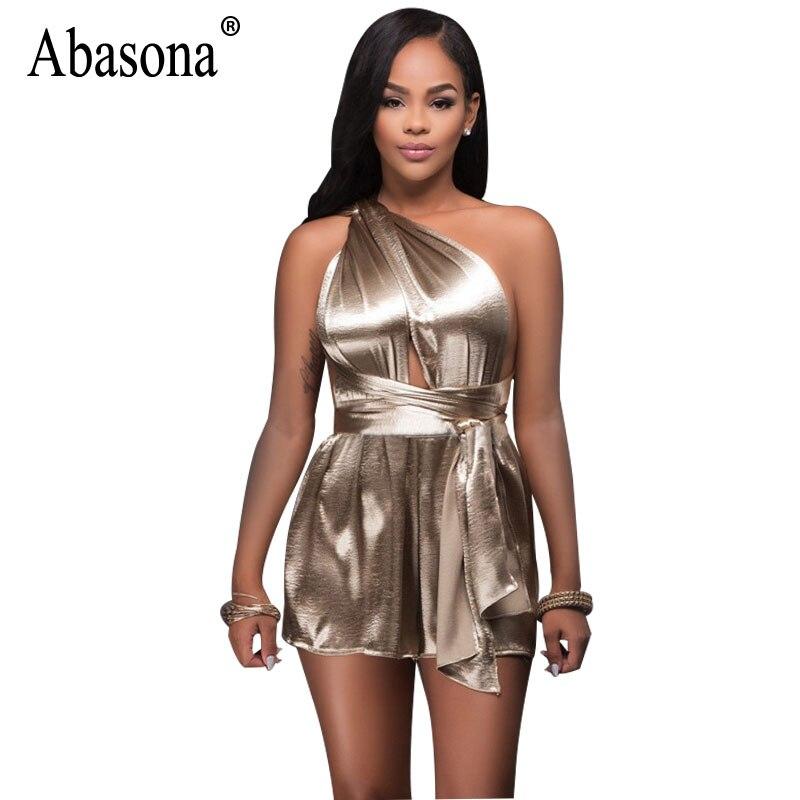 67f8f2e9178 Abasona Women Playsuits Evening Party Female Overalls One Shoulder Sexy  Bodysuits Night Club Bandage Rompers Jumpsuits Women - TakoFashion - Women s  ...