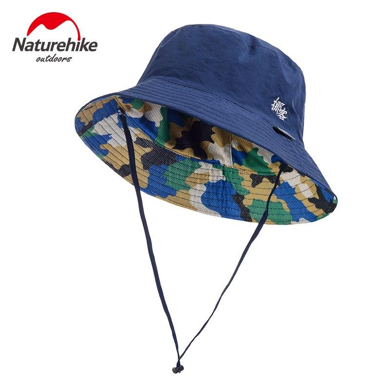 Prix pour Naturehike chapeau uv-de protection pliable plage respirant hommes femmes chapeau d'été en plein air chapeaux avec vent corde de pêche imprimer fleur