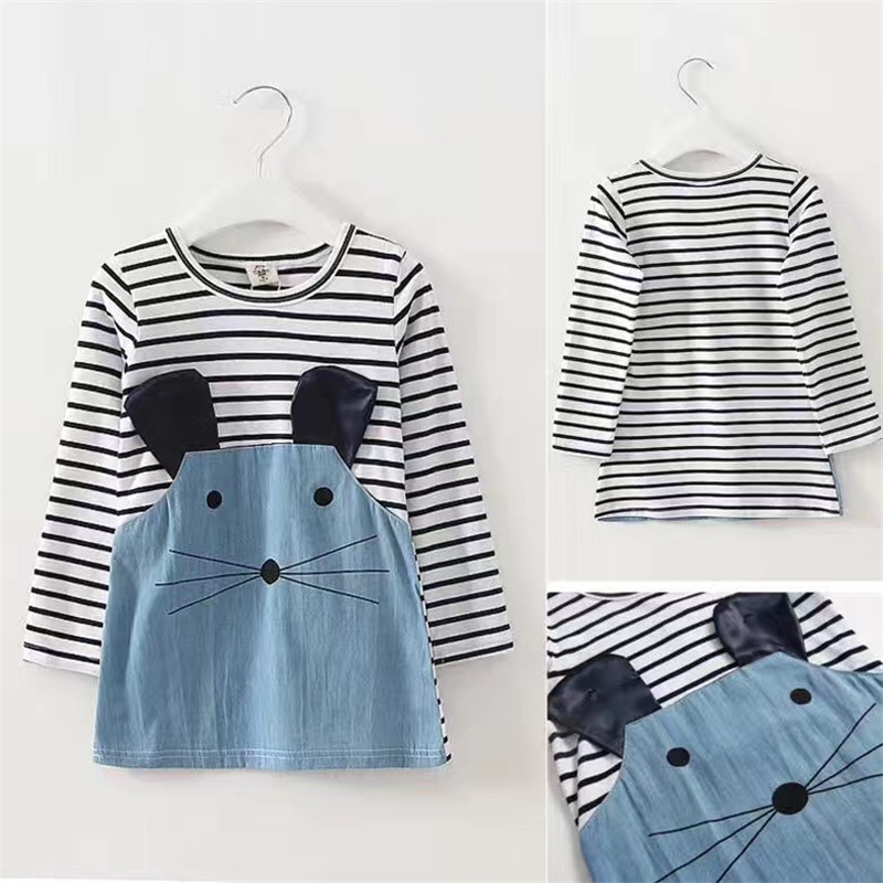 Baby Dresses Spring Children Clothing Cartoon Baby Girl Clothes Roupas Bebe Infant Jumpsuits Kids Clothes Cute Baby Dress