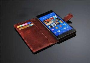 Image 4 - พรีเมี่ยมกระเป๋าสตางค์หนังสำหรับ Sony Xperia 5 10 Z1 Z2 Z3 Z4 Z5 Premium XA1 XZ XZ1 XZ2 XA2 c3 S39H ขนาดกะทัดรัด Ultra PLUS พลิกกรณี