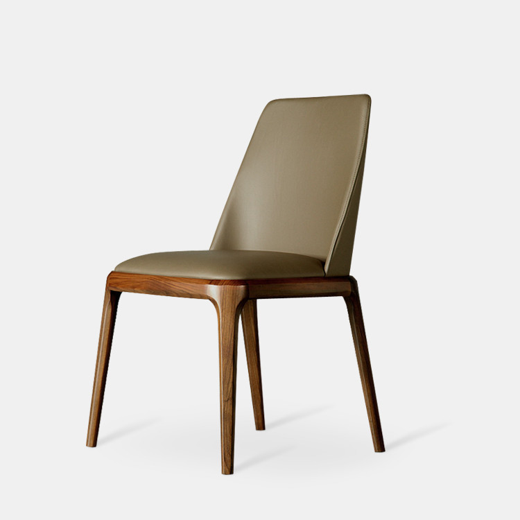 Modern dining chair armchair with leather upholstery for Dining designer chairs